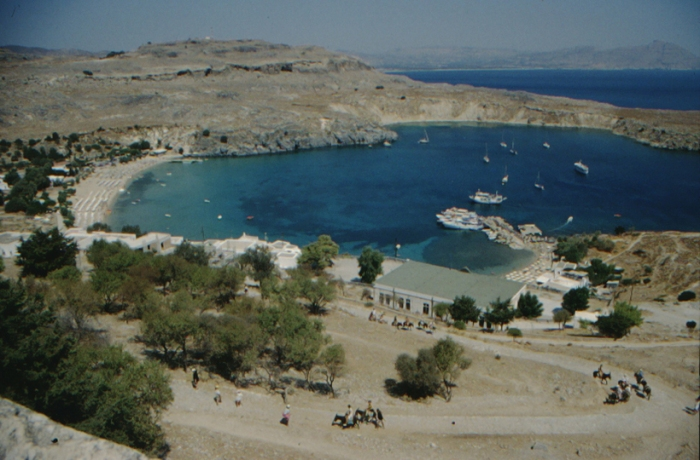 Rhodes, Lindos, harbour