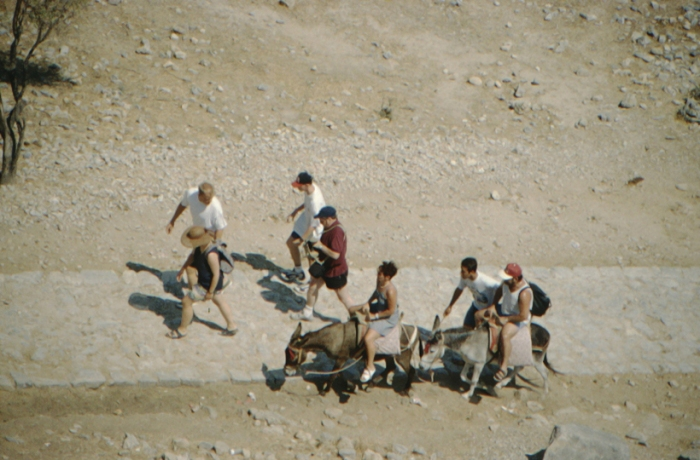 Rhodes, Lindos, riding donkey