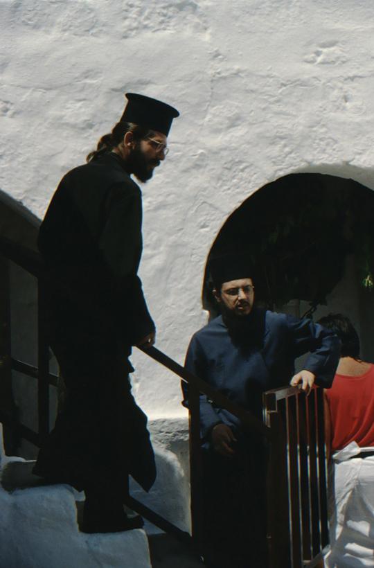 Patmos, Monastery of St. John, monks