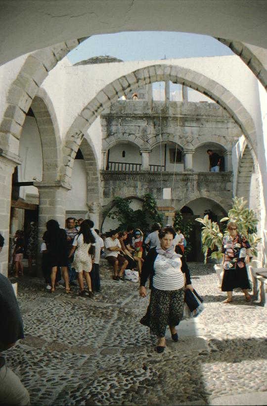 Patmos, Monastery of St. John, visitors