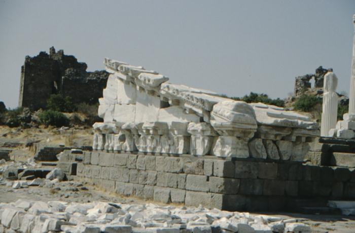 Pergamum, temple, detail