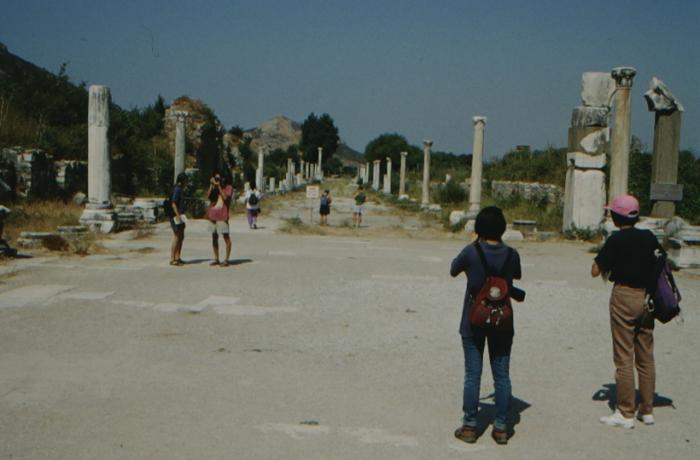 Ephesus, row of columns