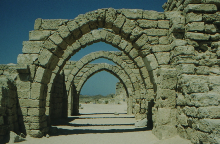 Caesarea Maritima, arched gateway