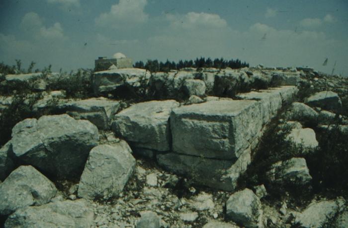 Gerizim, ancient ruins, detail