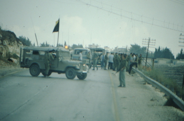 West Bank, roadblock on 05 September 1990