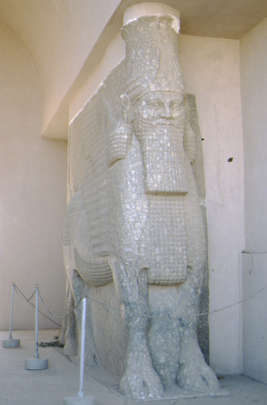 Nineveh, ancient statue