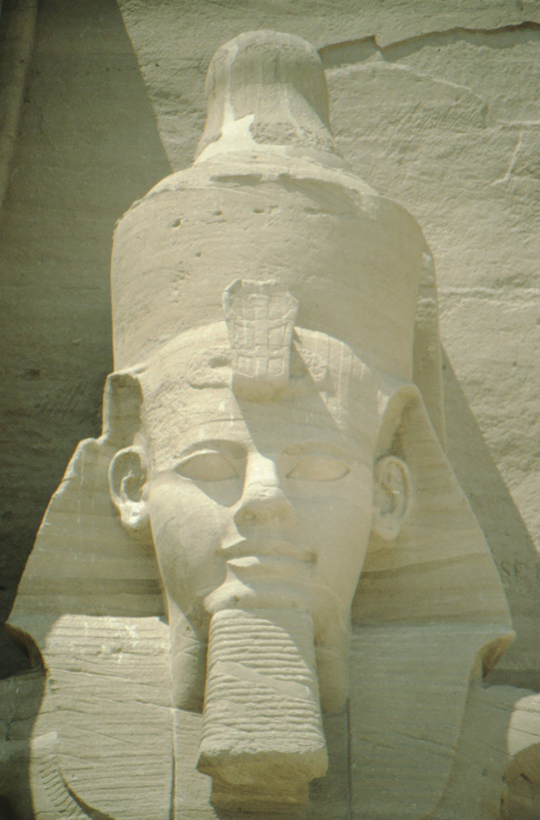 Abu Simbel, colossal statue on left