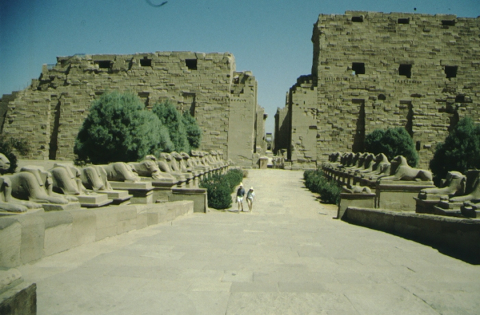 Karnak, temple from the west