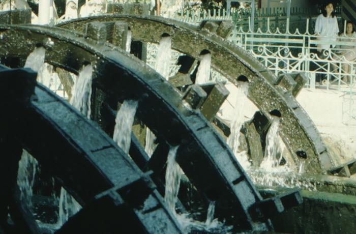 el Faiyum, waterwheel