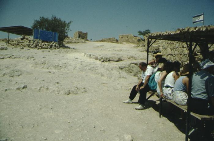 Masada, tourists