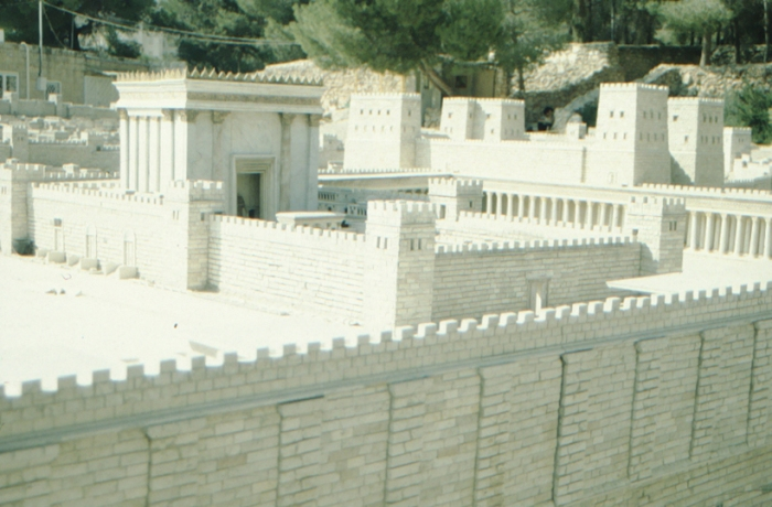 Jerusalem, model of the temple