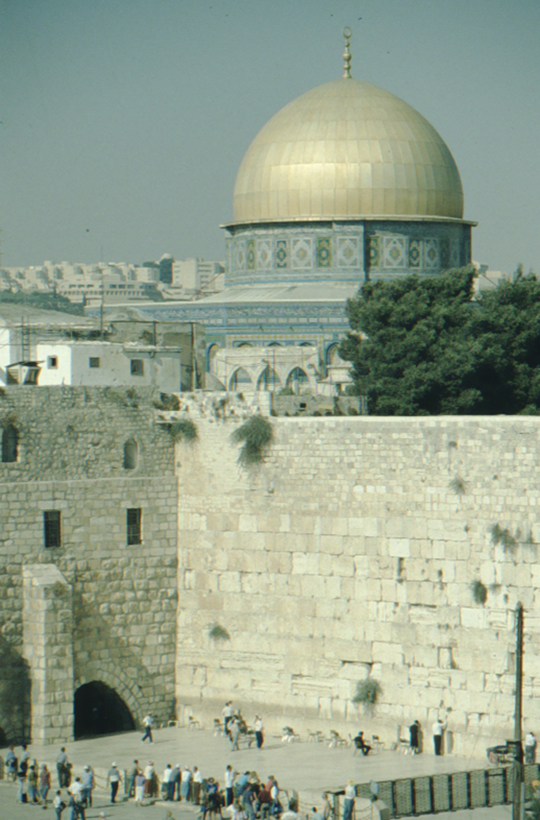 Jerusalem, Dome of the Rock and Wailing Wall