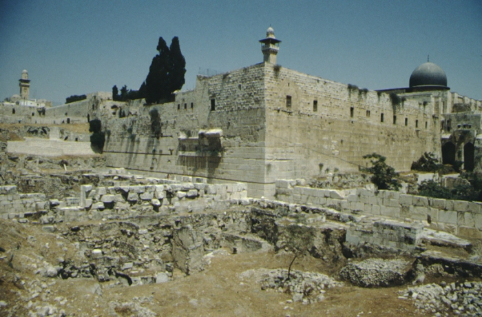 Jerusalem, Temple Mount from the south-west
