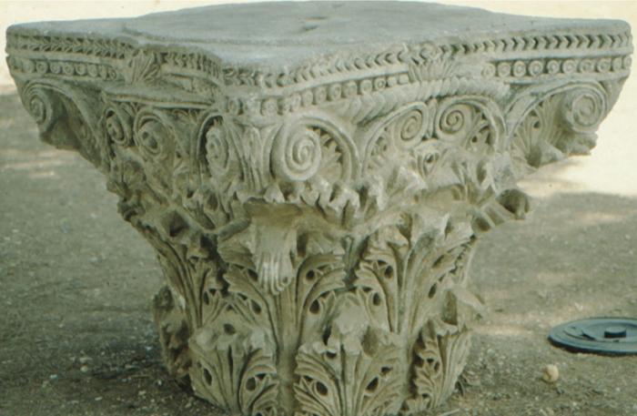 Jerusalem, ancient column head