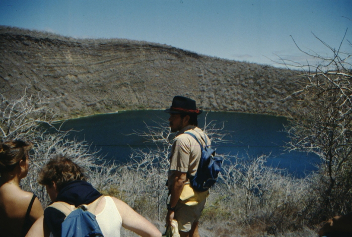 Tour Guide, Crater Lake, Isabela, Galapagos August 1989