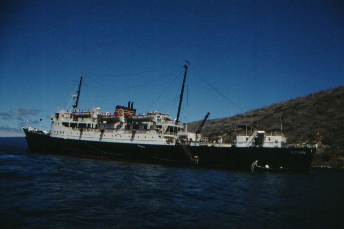 Bucanero in front of Isabela, Galapagos August 1989