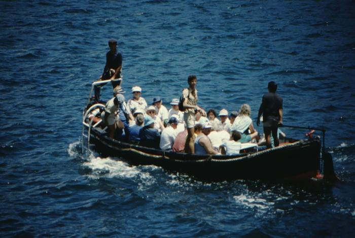 during disembarkation, Galapagos August 1989
