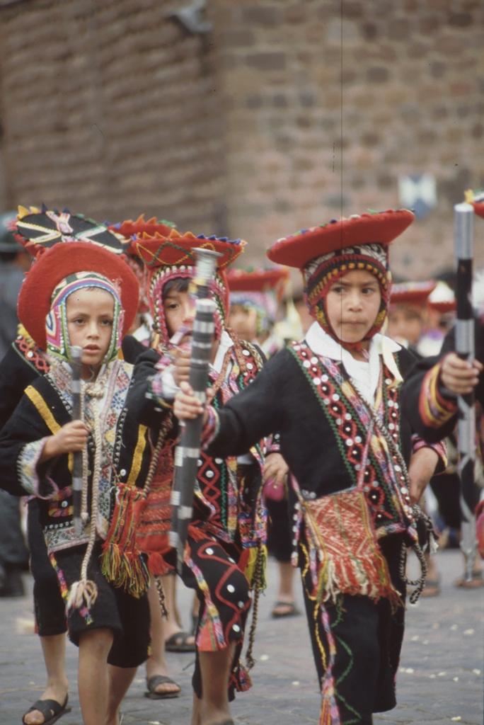 Parade, Cusco, Peru, 27. 8. 1989