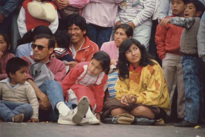 Parade, Cusco, Peru, 27. 8. 1989