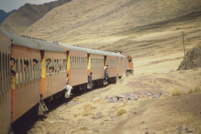 Rail journey to Lake Titicaca, Peru