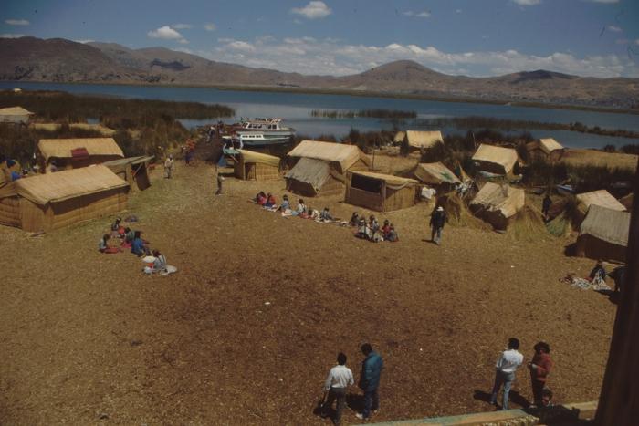Uru Island, Village Square, Lake Titicaca, Peru
