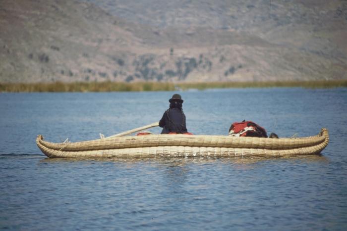 Reed boat, Titicaca Lake, Peru