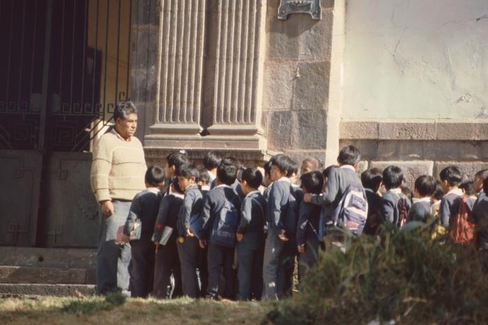 Schoolchildren, Cusco, Peru