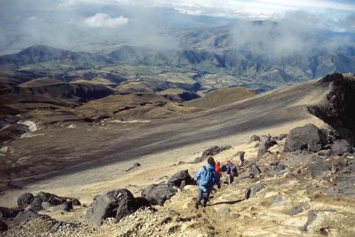 Volcano Pichincha, crater edge