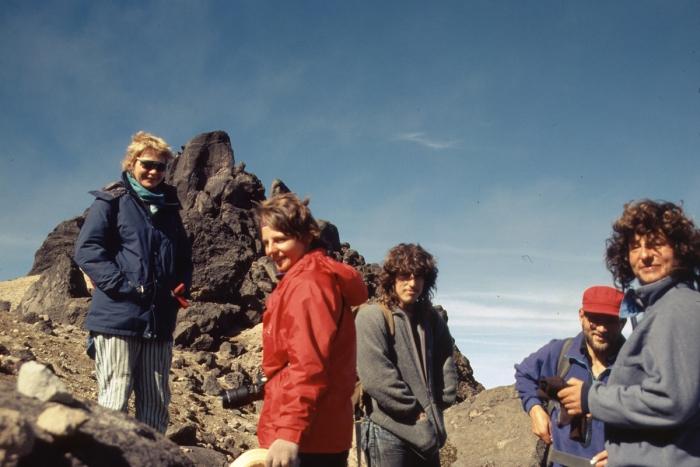 Volcano Pichincha, international roped party