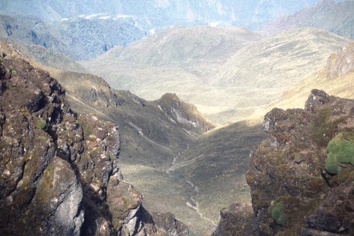 Volcano Pichincha, crater