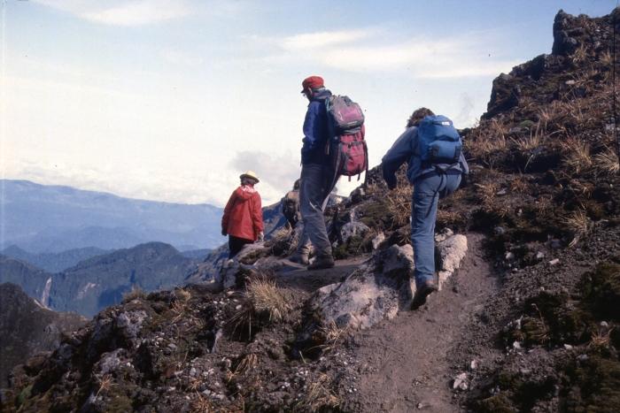 Volcano Pichincha, descent into the crater