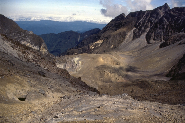 Volcano Pichincha, crater in the crater