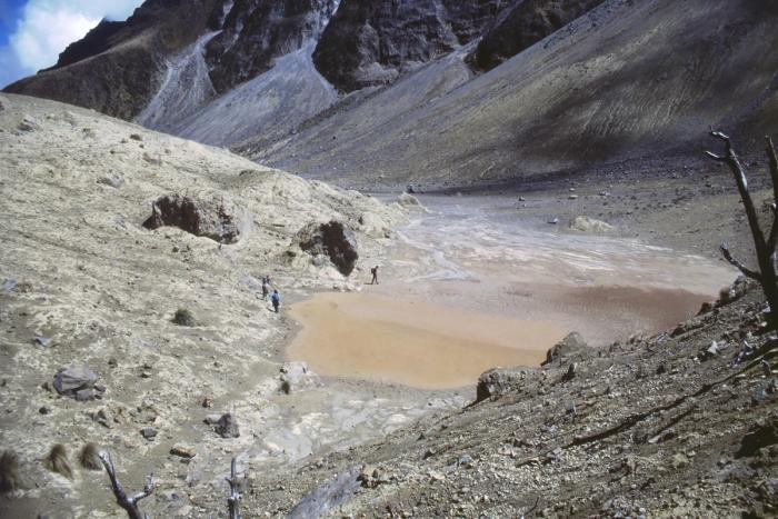 Volcano Pichincha, crater floor