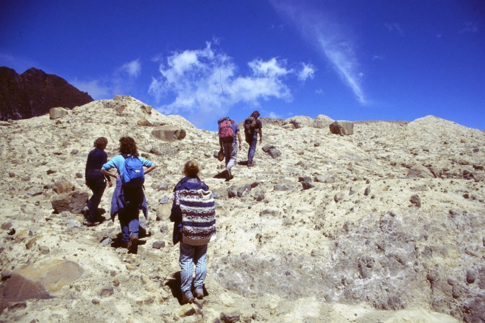 Pichincha, way to the crater in the crater